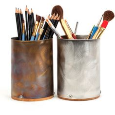 Stainless Steel and Bamboo Plywood Medium Cup eco-friendly organization or decoration from Hammer It Out