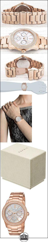 Esprit ES103822014 - Reloj de cuarzo para mujer, con correa de acero inoxidable chapado, color oro rosa  ✿ Relojes para mujer - (Gama media/alta) ✿