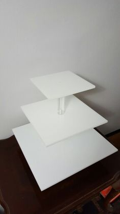 White Cupcake Stand with pedestal