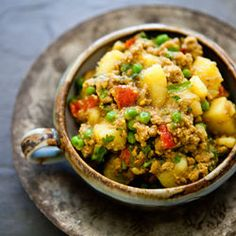 Curried Ground Turkey with Potatoes - one of my fave recipes of all time. Helps to have authentic Indian ingredients.