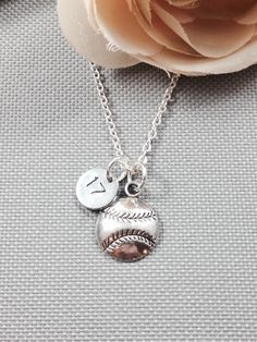 Personalized softball necklace, baseball necklace, sports necklace, number necklace, gift for athlete by Toodaughters on Etsy https://www.etsy.com/listing/227639299/personalized-softball-necklace-baseball