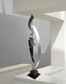 Modern Mid Century Abstract Metal Art Decor by AbstractMetalDesign