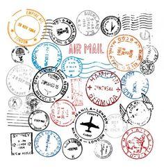 World Postmark Stamps Vector Set - http://www.dawnbrushes.com/world-postmark-stamps-vector-set/