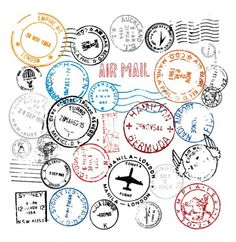 World Postmark Stamps Vector Set - http://www.dawnbrushes.com/world-postmark-stamps-vector-set/