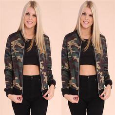 Brand New For 2017 USA Camouflage Wo... Check It Out!http://crystalsclothingcure.com/products/usa-camouflage-womens-bomber-jacket-classic-camo-pattern?utm_campaign=social_autopilot&utm_source=pin&utm_medium=pin
