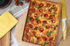 La dolce cucina di Paola : Torta salata con formaggio di capra, pomodori e ba...