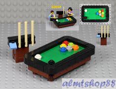 Details about LEGO - Pool Snooker Billiards Table Cue Stick - Black Brown Minifigure Furniture - R. T - Lego Lego Duplo, Lego Minifigure, Lego Modular, Lego Design, Lego Friends, Legos, Instructions Lego, Casa Lego, Lego City