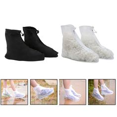 KLV Newly Waterproof Reusable Rain Gear Boots Snow Shoe Covers Shoes Overshoe