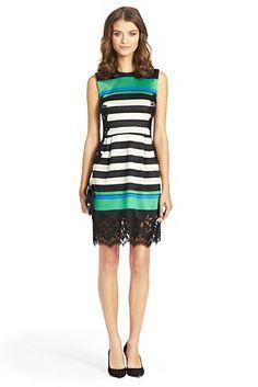 44e8cbe59f89 Diane von Furstenberg Frances Lace Detail Dress Denim Fashion