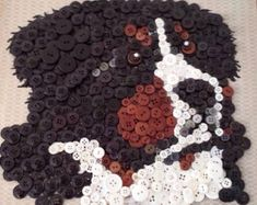 Bernese Mountain Dog Button Board