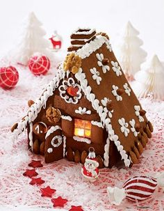 Das Rezept für Süsses Hexenhaus und weitere kostenlose Rezepte auf LECKER.de Christmas Mood, Christmas Candy, Christmas Baking, Christmas Crafts, Holiday, Gingerbread House Candy, Gingerbread House Designs, Austrian Recipes, Food Wallpaper