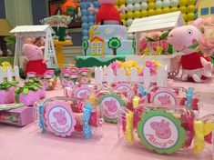 Fun favors at a Peppa Pig birthday party! See more party ideas at CatchMyParty.com!