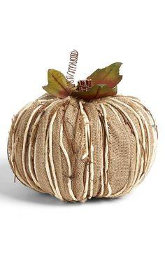 Decorative burlap pumpkin for fall Fall Pumpkins, Halloween Pumpkins, Fall Halloween, Burlap Pumpkins, Fabric Pumpkins, Rustic Halloween, Autumn Decorating, Pumpkin Decorating, Happy Fall Y'all