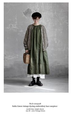 【送料無料】Joie de Vivreイタリアリネンヴィンテージ加工染め エンブロイダリーレースワンピース Boho Outfits, Vintage Outfits, Fashion Outfits, Womens Fashion, Diy Fashion Videos, Mode Kimono, Iranian Women Fashion, Mori Girl Fashion, Forest Girl