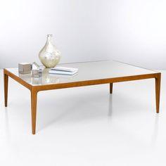 Table basse verre coloré RÉTRO en 120x80cm Sable- Vue 2