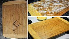 I vy ukládáte horké hrnce na dřevěnou desku na krájení? Pokud ano a zůstaly vám fleky a nevíte je vyčistit, vyzkoušejte tuto osvědčenou klasiku. Butcher Block Cutting Board, Bamboo Cutting Board, Health Fitness, Herbs, Kitchen, Design, Repurpose, Organizing, Tips