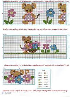 Gallery.ru / Фото #31 - 36 - ergoxeiro Cross Stitch For Kids, Mini Cross Stitch, Cross Stitch Borders, Cross Stitch Animals, Cross Stitch Designs, Cross Stitching, Cross Stitch Patterns, Baby Embroidery, Cross Stitch Embroidery