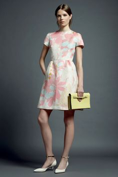 oversized floral print, ankle strap shoes, dress with sleeves. my ideal outfit.