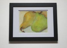 Pears Watercolor Print Pear Picture Bosc by SycamoreWoodStudio