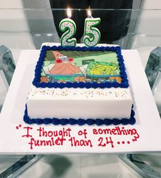 I Thought Of Something Funnier Than You Can Never Go Wrong W Spongebob My Boyfriend Absolutely Loved His Cake