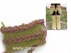 In this DROPS video we show how to work a Latvian braid. We have already worked 1 Latvian braid in the video. LATVIAN BRAID: Braid consists of 3 rounds , worked. Knitting Designs, Knitting Patterns Free, Free Knitting, Stitch Patterns, Knitting Stiches, Knitting Videos, Knitting Socks, Knitting Tutorials, Knitting Projects