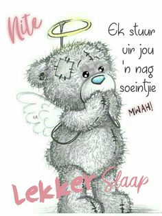 Good Day Quotes, Good Morning Quotes, Tatty Teddy, Teddy Bear, Good Night Sleep Tight, Evening Quotes, Goeie Nag, Good Night Messages, Afrikaans Quotes