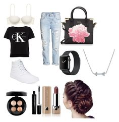"""Untitled #38"" by t-harrelson on Polyvore featuring Vans, H&M, Victoria's Secret PINK, Calvin Klein, MAC Cosmetics and Marc Jacobs"