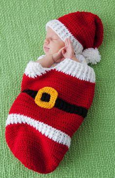Santa Cocoon & Hat by Frances Hughes