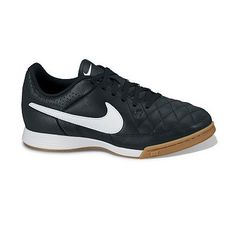 Nike Jr. Tiempo Genio Leather Indoor Soccer Shoes - Kids