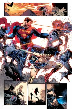 """""""Thank you so much for the kind words about this JL issue, friends! Wonder Woman Comic, Superman Wonder Woman, Batman And Superman, Batman Comics, Batman Robin, Comic Book Artists, Comic Artist, Comic Books Art, Comics Und Cartoons"""
