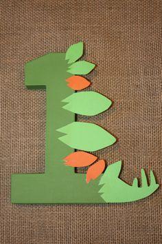 Dinosaur Party Decoration Dinosaur Birthday Number by LittleABCs