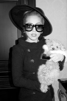 Lady Gaga and Fozzie Bear going shopping. by Terry Richardson