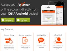 In July we announced the release of our #mobile #app for iOS and Android. We've been listening to your comments and feedback, and are very excited to announce that version #2.0 of the #Payoneer mobile app is now available for download on the Apple App Store and on Google Play! Read more about the #update on http://www.payoneer.com/mobile/index.aspx