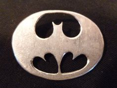 SOLID STERLING SILVER PIN BROOCH BATMAN COMICS MARKED #Unbranded
