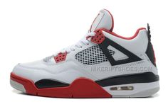 designer fashion 9c2cd ca8cf Air Jordan 4 Retro White Fire Red-Black Cheap For Sale Online, Price    88.00 - Nike Rift Shoes