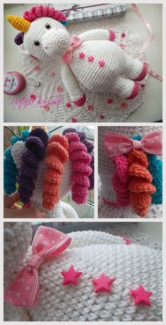 Unicorn Amigurumi Tutorial #amigurumi #amigurumidoll #amigurumipattern #crochettoy #knitting #crocheting #crochetaddict