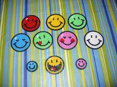 Smiley hama beads  - Dominelle Decoupage