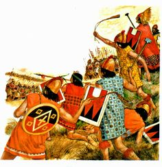 Los incas de Pachacutec en una batalla.