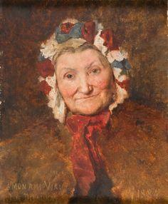 Jules Elie DELAUNAY Portrait de Madame Viau,1884