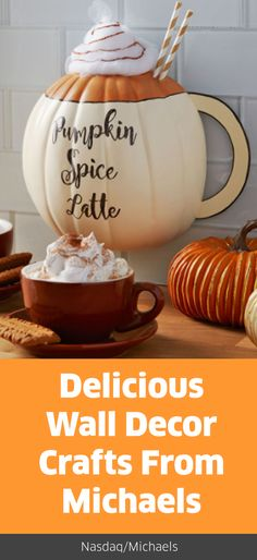 #PumpkinSpice everything, are we right? Keep the spirit and the spice going all season long with this easy #FallCraft.