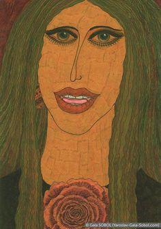 GALA SOBOL Singer. 2004. Mixed media. 21x14,7 (8 1/4 x 5 3/4 in) // Співачка. 2004. Мішана техніка. 21x14,7