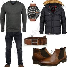 Winteroutfit mit Parka, Chelsea Boots und Chronograph (m0719) #pullover #diesel #chelsea #boots #outfit #style #herrenmode #männermode #fashion #menswear #herren #männer #mode #menstyle #mensfashion #menswear #inspiration #cloth #ootd #herrenoutfit #männeroutfit