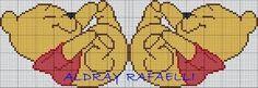 Resultado de imagem para risco de ponto cruz de lençol de berço p/ meninos poof Cross Stitch Cards, Cross Stitch Baby, Cross Stitching, Cross Stitch Patterns, Crochet Patterns, Disney Stitch, Pixel Art Templates, Pooh Bear, Crochet Diagram