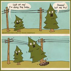 Perhaps this what all the fallen trees are doing lately here in the Lake Tahoe area? #science #nature #comics #trees #arbor #webcomics #unearthedcomics #fallentrees #arborist