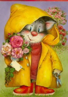 Lisi Martin is a Spanish artist and illustrator famous for her highly detailed and romanticized pictures of children. Lisi was born in Barcelona, Catalonia in Illustration Mignonne, Cute Illustration, Art Mignon, Spanish Artists, Animation, Cat Art, Cats And Kittens, Good Morning, Cute Pictures