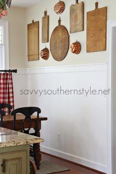 Gallery Wall in the Breakfast Room