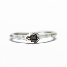 Rough diamond ring.  One of a kind.