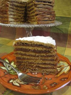 My grandmother used to make this and I can still remember how good it tasted......Old fashioned apple stack cake. Yum.