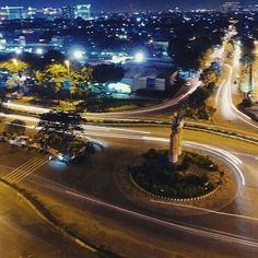 From @widovsky_photography -  Have a nice day... #daily #night #aerial #photography #photo #djiphantom3professional #djiindonesia #dji #dronestagram #drone #citynights #urban #earthpix #explore #travel #travelgram #art #nofilter #centeroffocus #details #lingkarindonesia