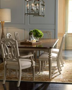 Loma Dining Furniture at Horchow.- light for dining room